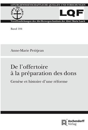 De l'offertoire à la préparation des dons par Anne-Marie Petitjean, auxiliaire du Sacerdoce
