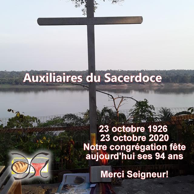 Anniversaire de la congrégation des Auxiliaires du Sacerdoce