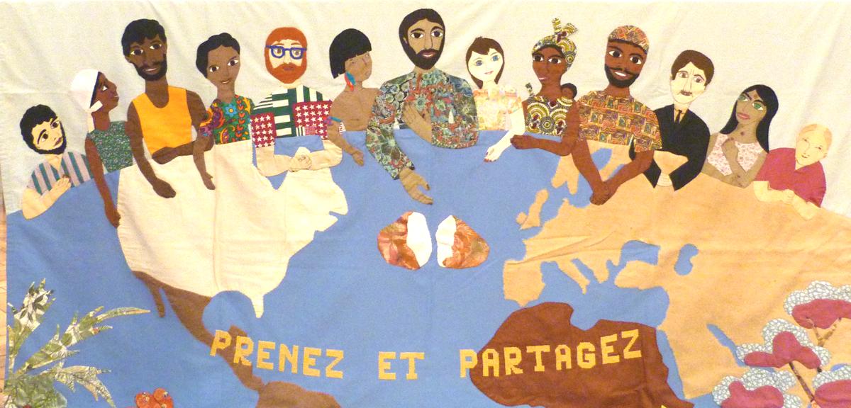Les missions des auxiliaires du Sacerdoce - patchwork de Thérèse Dreyer